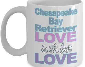 Chesapeake Bay Retriever Mug - Chesapeake Bay Retriever Gifts - Love Lover Mom Dad Owner Gift - Black White Coffee Tea Cup 11 oz 15 oz