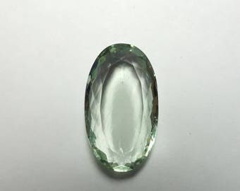 1 Pieces Lot 13x22 MM Green Amethyst Oval Shape 12.1 Carat Weight Good Quality Loose Gemstone Bead