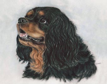 King Charles - Dog wall art - Spaniel Print - Dog Picture - Dog Print - Spaniel Picture - Spaniel Gift - Spaniel wall art - Dog artwork