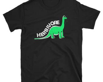 Herbivore Dinosaur Vegan T-Shirt for Vegans and Vegetarians