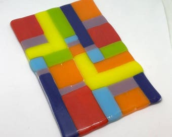 Multicolored Fused Glass made by DENO
