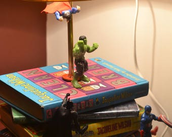 Book Lamp ,superhero lamp ,fairy lamp ,children room lamp, kids lamp, comics lamp, chic lamp, quirky lamp