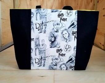Large Black Harry Potter Tote Bag