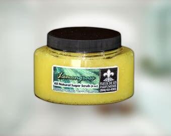 Lemongrass All Natural and Handmade Sugar Scrub 8 oz