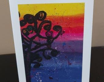 "The Dark Rainbow Day -  10 Blank Notecard;  5.5x4.25 "" by Olivia 7 years old"