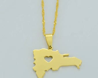 Golden Dominican Republic Necklace
