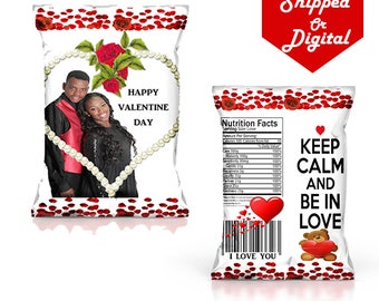 Valentine Day Chip Bags - Valentine Day - Valentine Treats - Valentine Gifts - Valentine Party - Chip Bag - Personalized - Digital