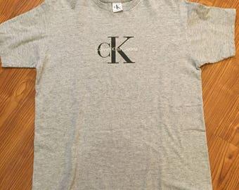 Vintage 90s Grey Calvin Klein T Shirt