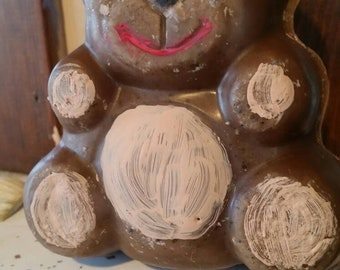 Teddy bear free standing candle