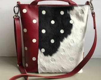 shopper leather dots