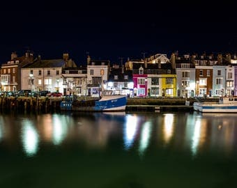 Fine art photographic print of Weymouth Harbourside, Dorset, UK