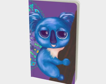 "Journal (Sm) Cute Animal Illustration ""Cirque Koala"" by Malinee Ganahl. Notebook, Sketchbook. Plain, ruled, grid, or bullet pages. 5""x8.25"""