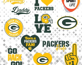 Green Bay Packers clipart, sport clipart, sport silhouettes, sport logos, svg, dxf, png, jpg and eps files 09