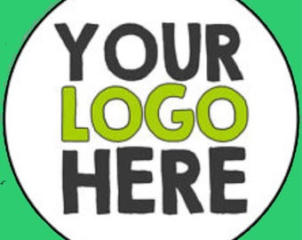 Personalised logo stickers.