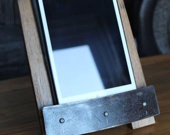 Ipad/ tablet stand oak barrel stave