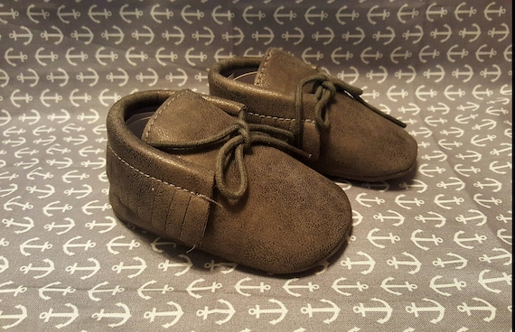 Baby Moccasins 6-12Months with laces