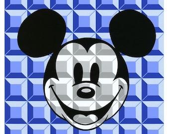 8-Bit Block Mickey (Blue)