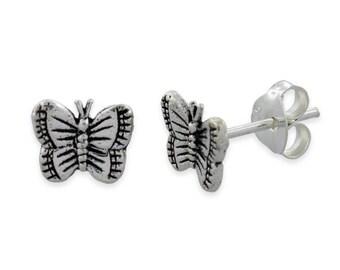 New 925 Sterling Silver butterfly earrings