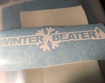 Winter beater decal