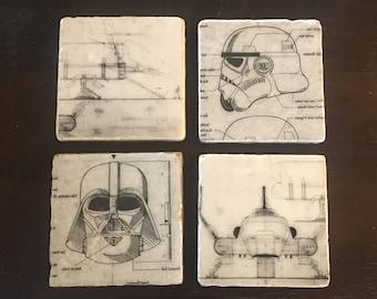Vintage Style Star Wars Coasters