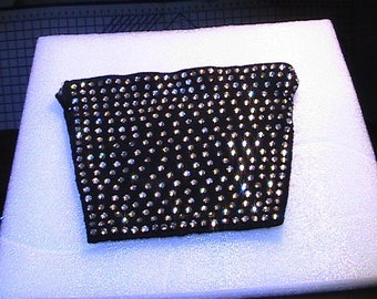 Black rhinestone evening bag