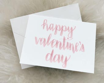 Happy Valentine's Day Card - Individual Card - Valentine's Card