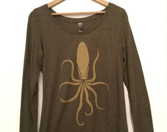 Golden Octopus Shirt