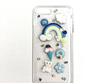 "iPhone 7/8 Plus ""Blue Decoden"" DIY Resin Phone Case"