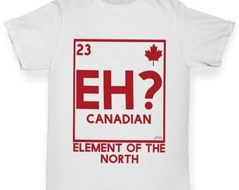 Boys Funny T Shirt Eh? Element Of The North Boy's T-Shirt
