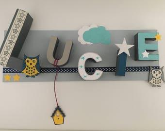 Custom frame - child's name - Wall Art