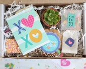 Gift Box for Friend - Get Well Gift | Friendship Gift Basket | XOXO gift | Thinking of You Gift | Sunshine Gift | Succulent Gift | Plants