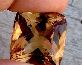 85.80 Carates Very Beautiful Faceted Brown Color Topaz With Beautiful Luster From Pakistan.