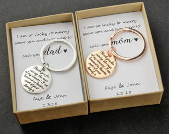 Mother of the Groom gift Father of the groom gift Mother in Law Gift Father Mother in law wedding gift future mother in law gift wedding gif