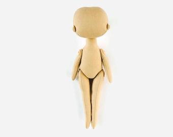 Blank rag doll body 7 1/2 Body of fabric doll Cloth doll body Blank cloth doll body Blank doll body Create your own doll Blank soft dollbody