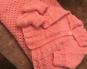 Handmade to order baby set