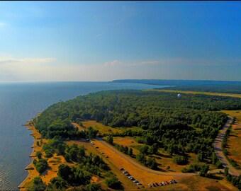 Pointe Des Chenes beach Sault Ste Marie, Ontario.
