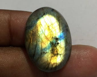 31.3 Cts 100% Natural Medagascar's Labradorite Cabochon Multi Fire Polished Cabochon Healing Quartz Oval Shape 27x20x7 mm N#717-24