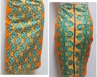 Ankara pencil skirt