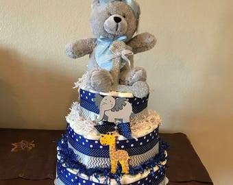 Baby boy diper cake