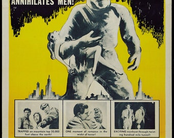 The Snow Creature (1954) Cult Horror movie poster reprint 19x12.5 inches