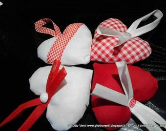 Hearts in cloth