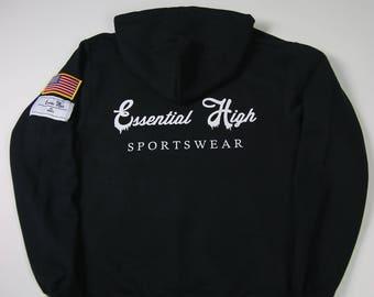 Black drip hoodie
