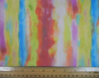 Red and Multi color Stripe, Studio Fabrics - R-1-12