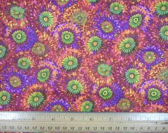 Purple and Green Floral - Northcott - P-1/2-4