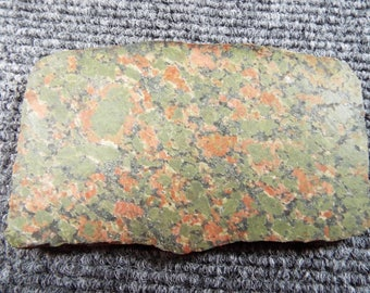 High-quality Unakite slab green and rose  Slab from Rose River Madison Co