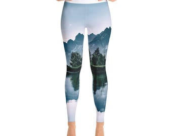 Yoga Leggings - Mountains