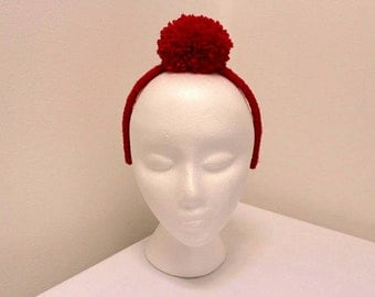 Red kalissi alice band for girls, headband girls