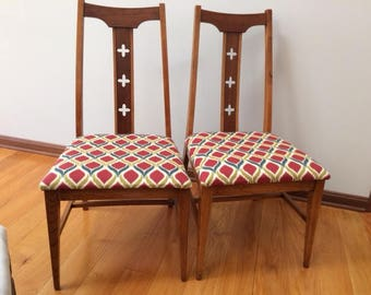 Pair of Vintage Wood Chairs