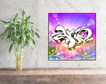 Aria  -  Custom Graffiti Name Sign, Graffiti Art Canvas Print, Personalized Canvas Wall Art, Abstract Graffiti Canvas