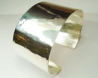 Wide Silver Bangle